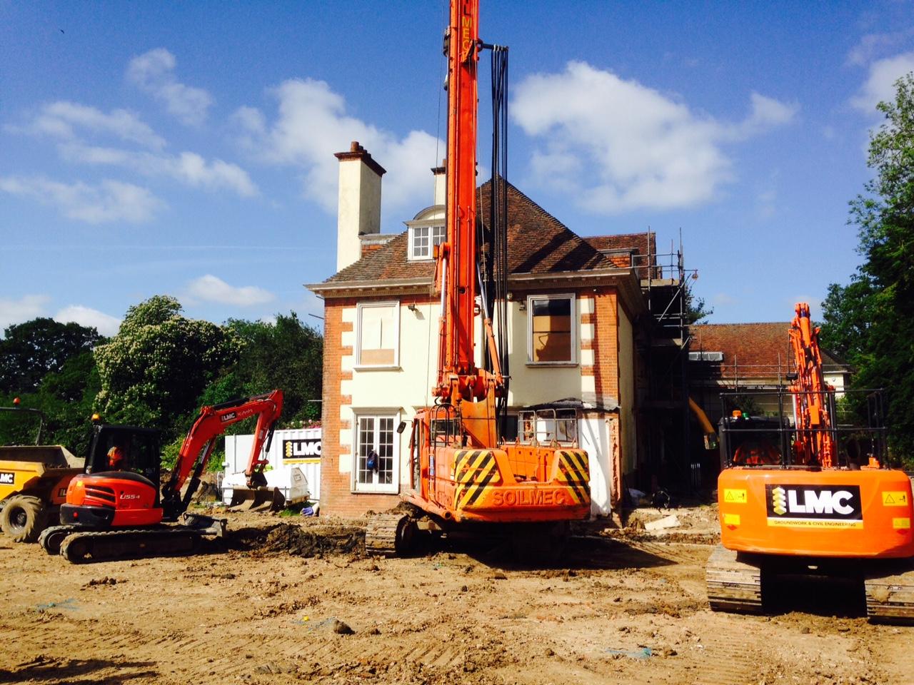 Contiguous Piled Basement Totteridge, Client - Devonshire Property Contract Value - £500k