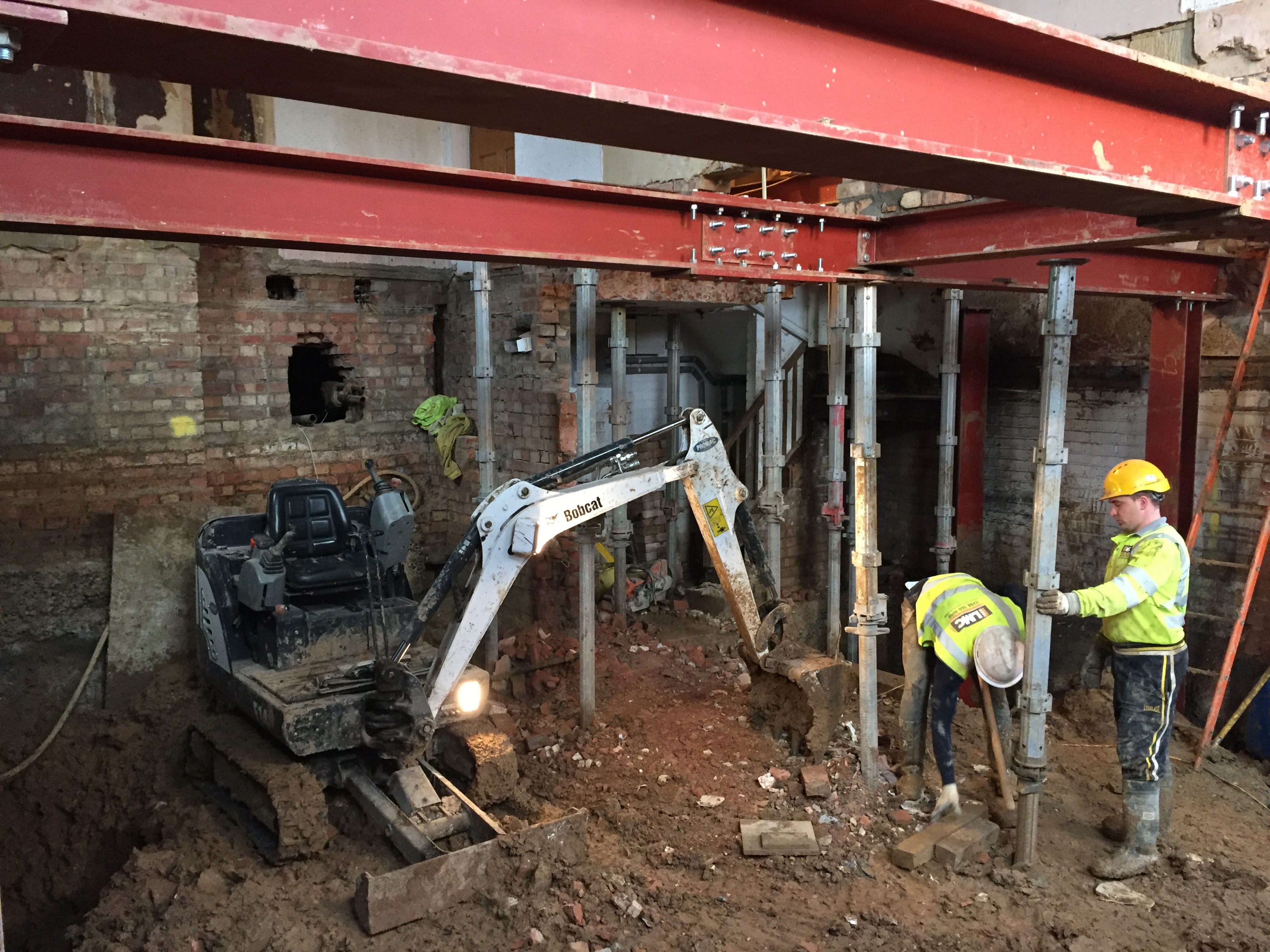 Underpinned basement lmc contracts limited for Basement foundation construction