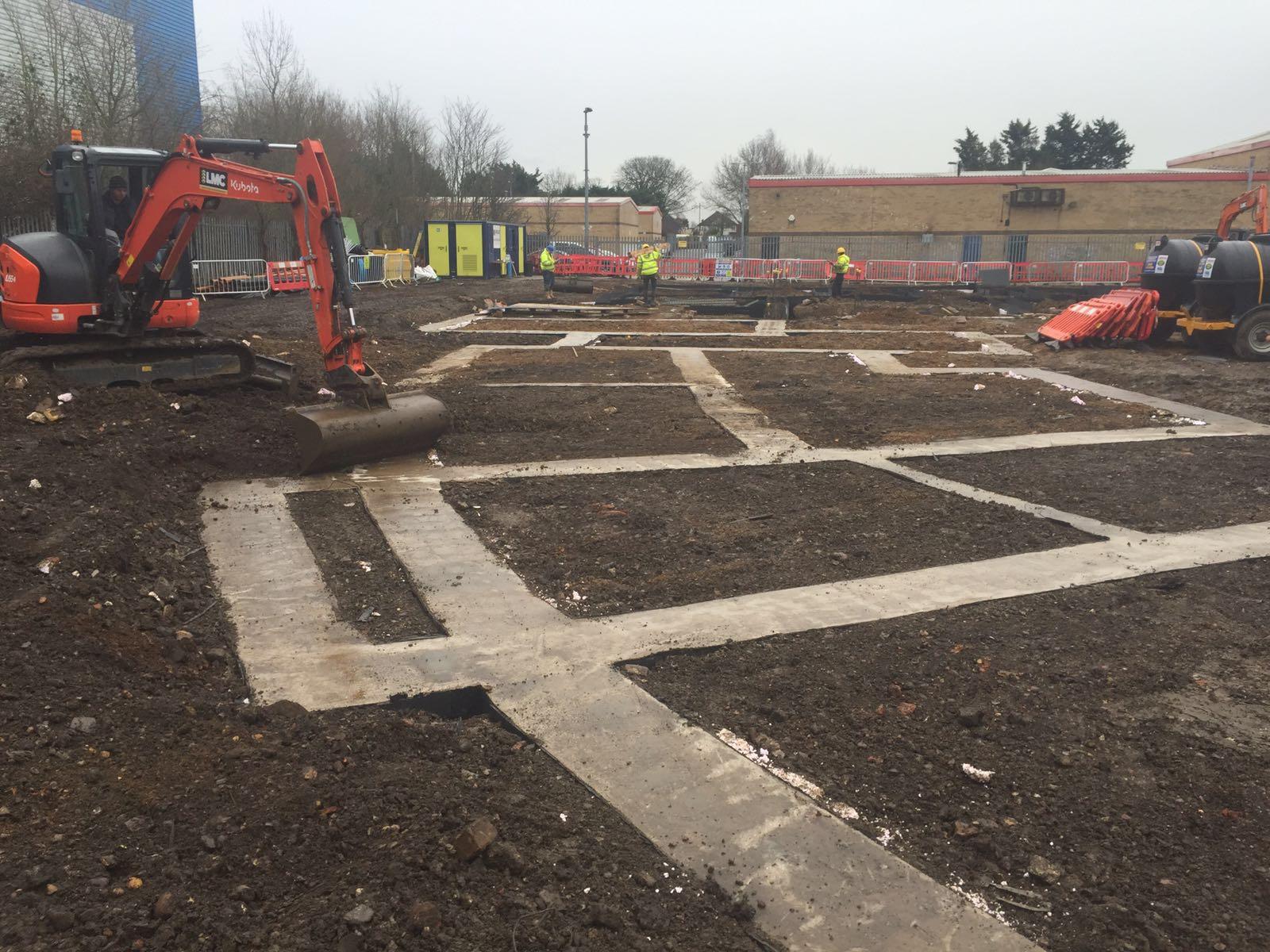 Ground-Beam Construction Hounslow - Client - Cosmur Project Value - £4million